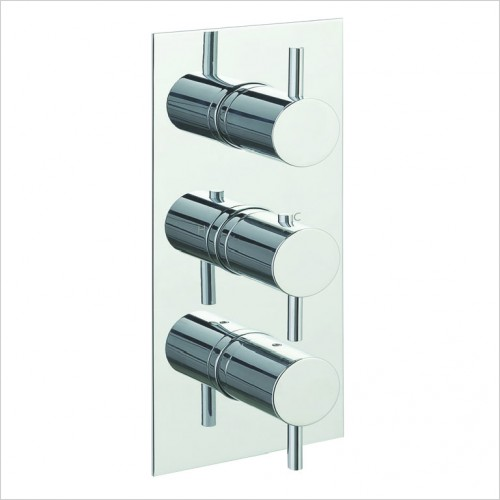 Bathwise brassware - Clean-line 3 outlet thermostatic shower valve vertical