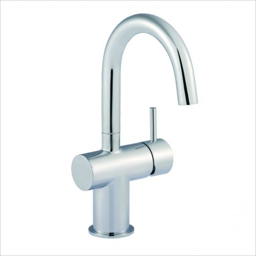 Bathwise brassware - Clean-line basin mixer with side lever excluding waste