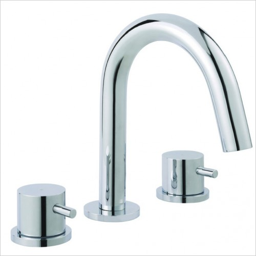 Bathwise brassware - Clean-line 3th basin mixer excluding waste