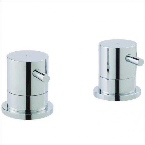 Bathwise brassware - Clean-line deck panel valves