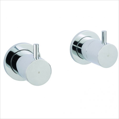 Bathwise brassware - Clean-line wall mount panel valves