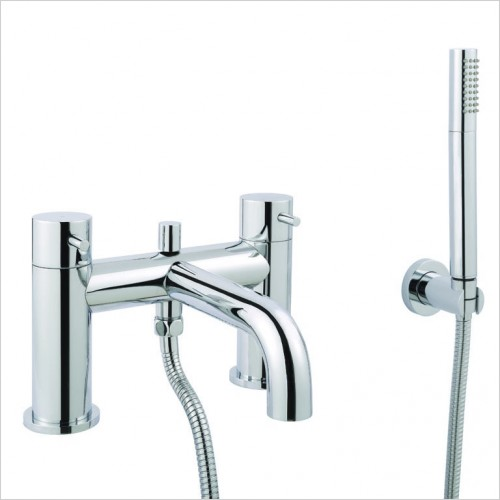 Bathwise brassware - Clean-line deck mount bath shower mixer with kit