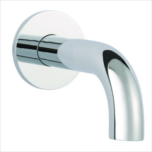 Bathwise brassware - Clean-line 120mm wall basin spout