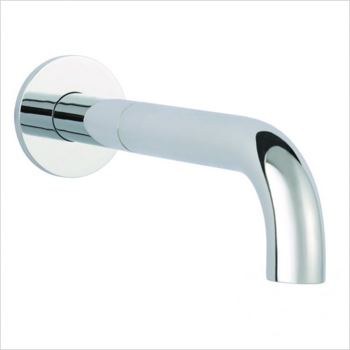 Bathwise brassware - Clean-line wall mount 195mm basin spout