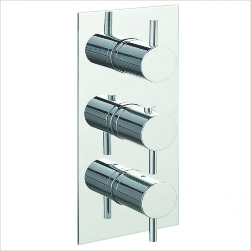 Bathwise brassware - Clean-line 2 outlet shower valve vertical