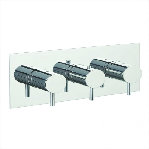 Bathwise brassware - Clean-line 2 outlet shower vlave horizontal
