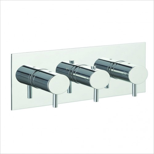 Bathwise brassware - Clean-line 3 outlet shower valve horizontal