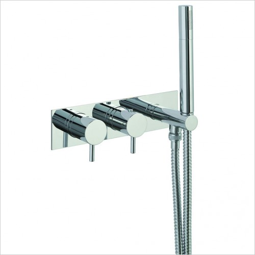 Bathwise brassware - Clean-line 1 outlet shower valve with outlet holder