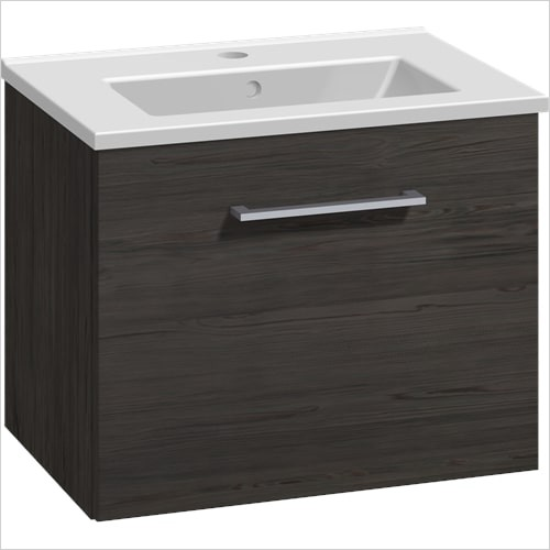Bathwise Washbasin & Furniture - Space-line slim 510x360mm washbasin and 1 drawer furniture s