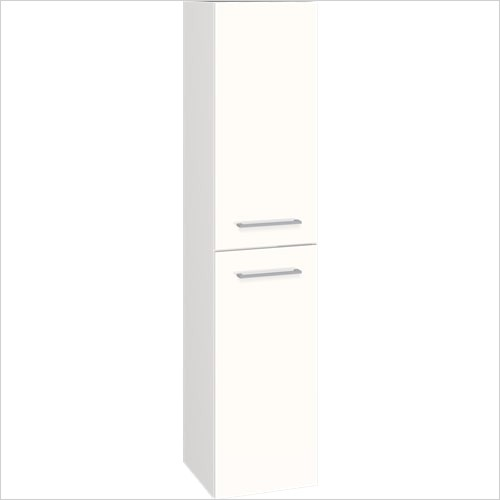 Bathwise Washbasin & Furniture - Space-line I 350mm wide 2 door tall cabinet with 4 shelves