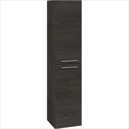 Bathwise Washbasin & Furniture - Space-line 350mm 2 door tall cabinet with 4 shelves