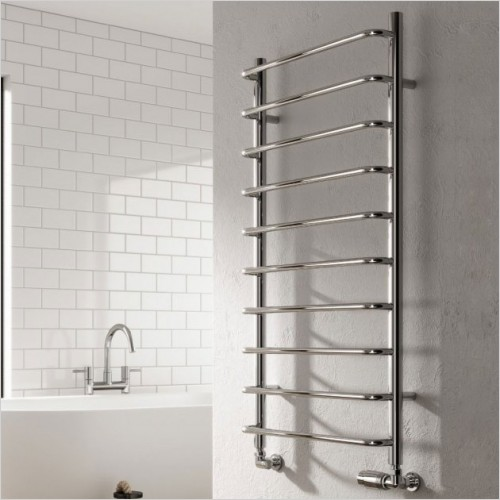 Bathwise Radiators - Round-line 1000x500mm towel radiator mild steel