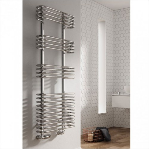 Bathwise Radiators - Round-line 900x500mm towel radiator mild steel