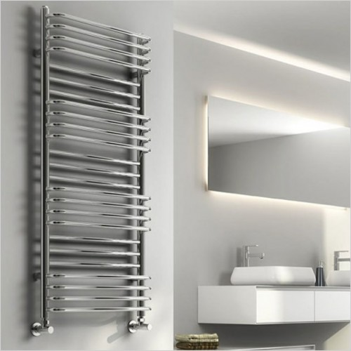 Bathwise Radiators - Round-line 800x500mm towel radiator mild steel