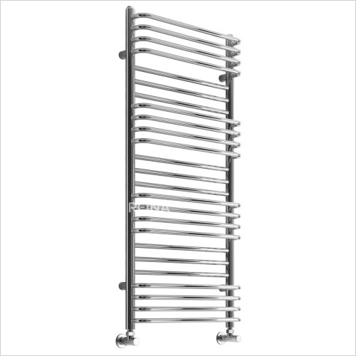 Bathwise Radiators - Round-line 1400x500mm towel radiator mild steel