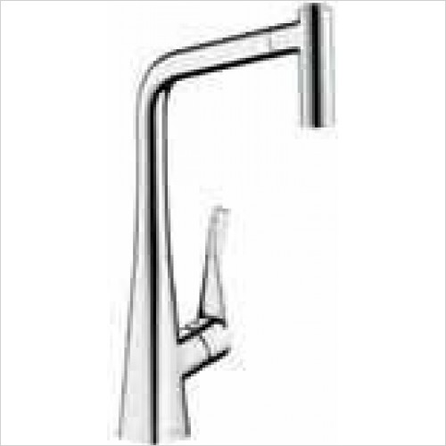 Hansgrohe Brassware - Metris Single Lever Kitchen Mixer With Pull-Out Spray