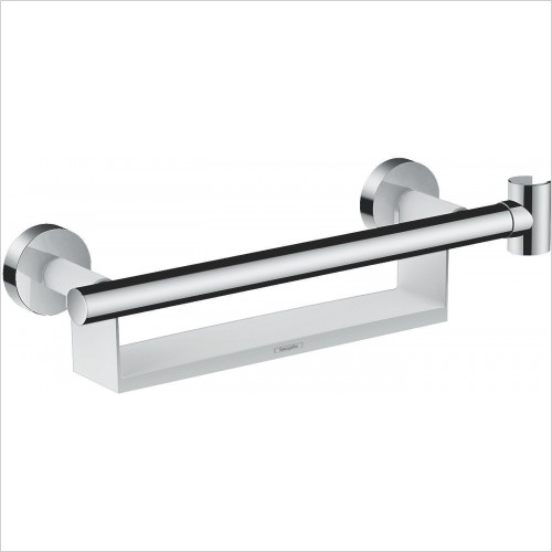 Hansgrohe Accessories - Grab Bar Comfort With Shelf & Shower Holder