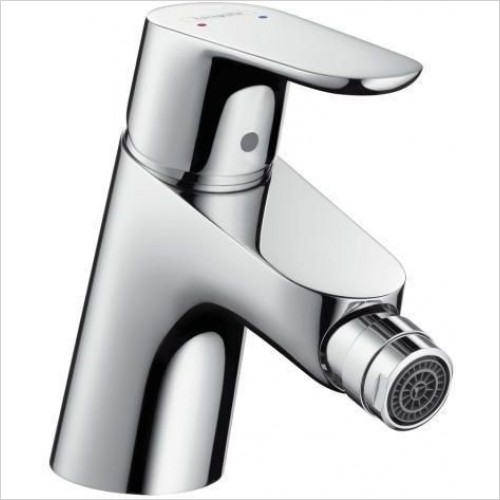 Hansgrohe Brassware - Focus E 2 Single Lever Bidet Mixer With Push-Open Waste Set