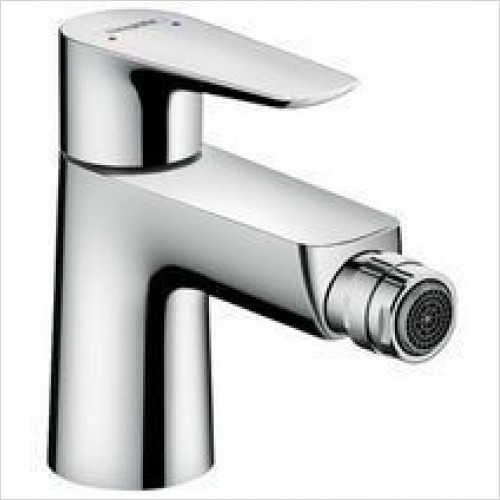 Hansgrohe Brassware - Talis E Single Lever Bidet Mixer, Pop-Up Waste
