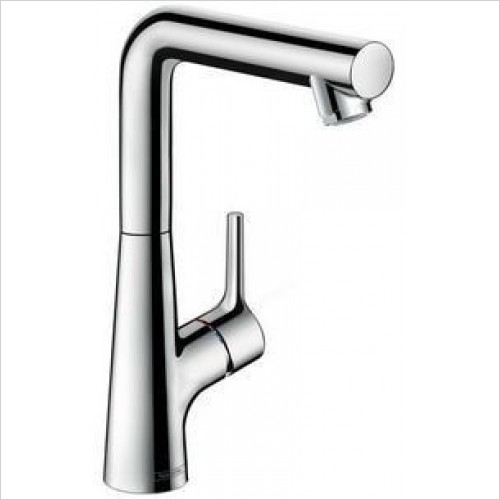 Hansgrohe Brassware - Talis S Single Lever Basin Mixer 210, Pop-Up Waste