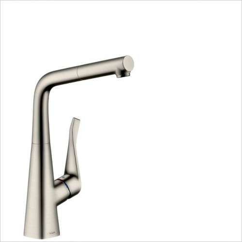 Hansgrohe Kitchen Taps - M7114-H320 Single Lever Kitchen Mixer 320, Pull-Out Spout