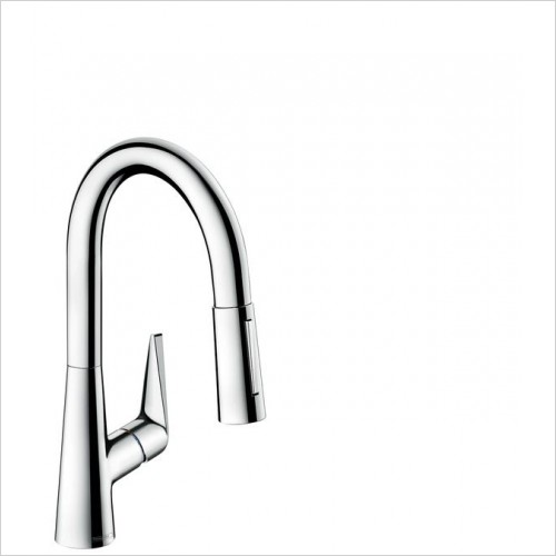 Hansgrohe Kitchen Taps - M5116-H160 Single Lever Kitchen Mixer 160, Pull-Out Spray