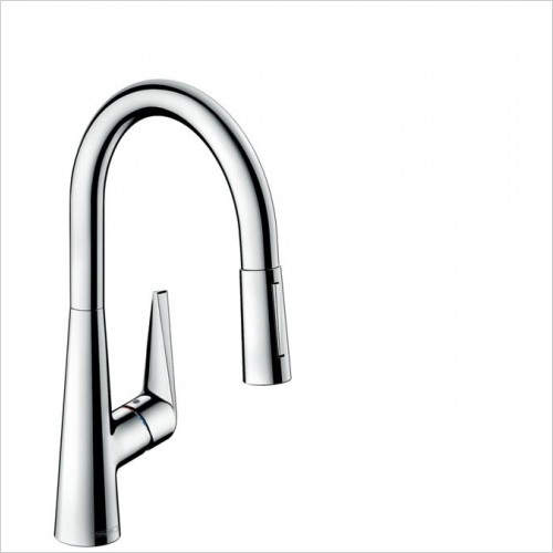 Hansgrohe Kitchen Taps - M5116-H200 Single Lever Kitchen Mixer 200, Pull-Out Spray