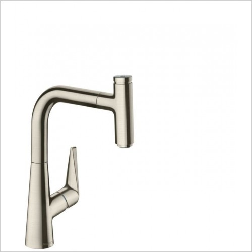 Hansgrohe Kitchen Taps - M5115-H220 Single Lever Kitchen Mixer 220, Pull-Out Spout