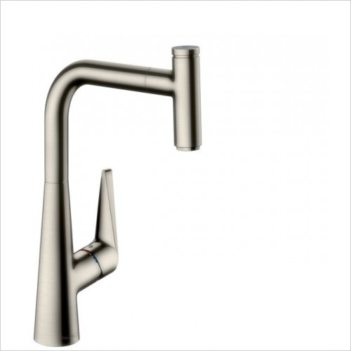Hansgrohe Kitchen Taps - M5115-H300 Single Lever Kitchen Mixer 300, Pull-Out Spout
