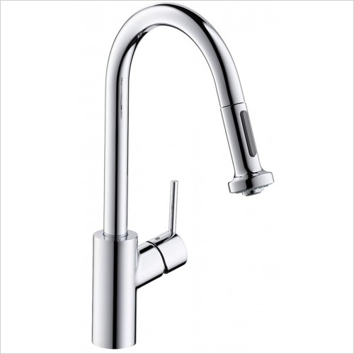 Hansgrohe Kitchen Taps - M5216-H220 Single Lever Kitchen Mixer With Pull-Out Spray