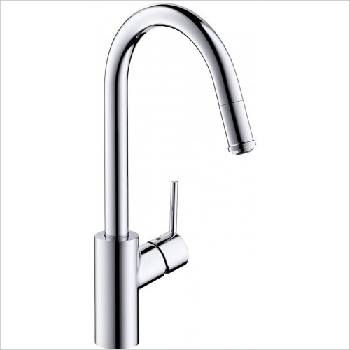Hansgrohe Kitchen Taps - M5214-H260 Single Lever Kitchen Mixer With Pull-Out Spout