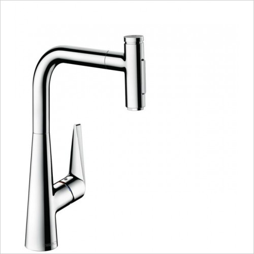 Hansgrohe Kitchen Taps - M5117-H300 - Single Lever Kitchen Mixer With Pull-Out Spray