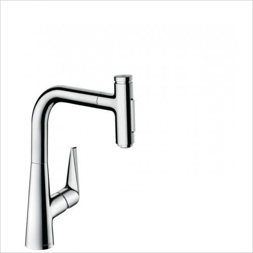 Hansgrohe Kitchen Taps - M5117-H220 - H220 Single Lever Kitchen Mixer With P-O Spray