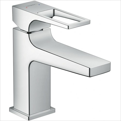 Hansgrohe Brassware - Metropol Single Lever Basin Mixer 100 With Push-Open Waste
