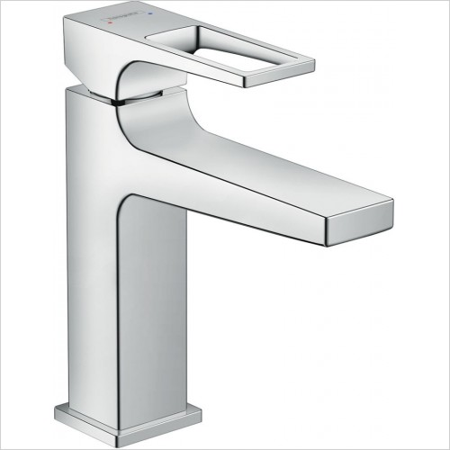 Hansgrohe Brassware - Metropol Single Lever Basin Mixer 110 With Push-Open Waste