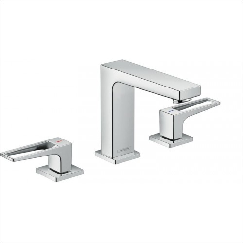 Hansgrohe Brassware - Metropol 3-Hole Basin Mixer 110 With Push-Open Waste