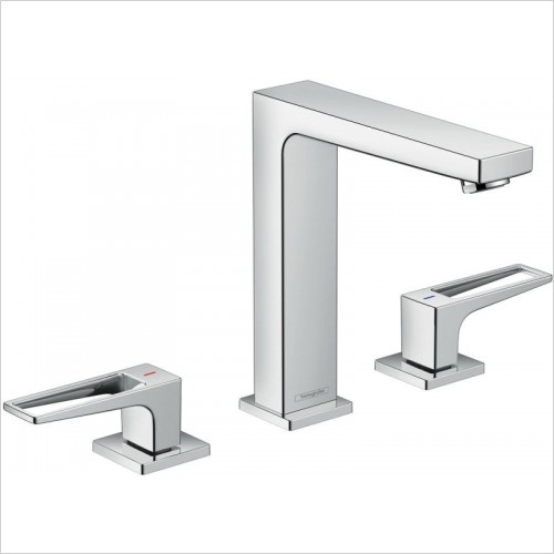 Hansgrohe Brassware - Metropol 3-Hole Basin Mixer 160 With Push-Open Waste