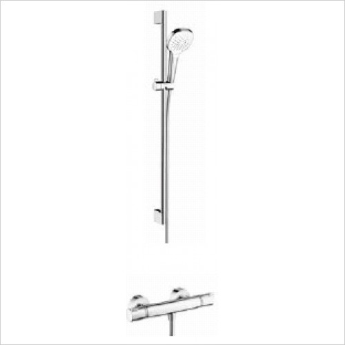 Hansgrohe Brassware - Soft Cube Croma Select Rail Kit With Valve