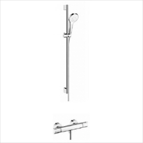 Hansgrohe Brassware - Round Croma Select Rail Kit With Valve