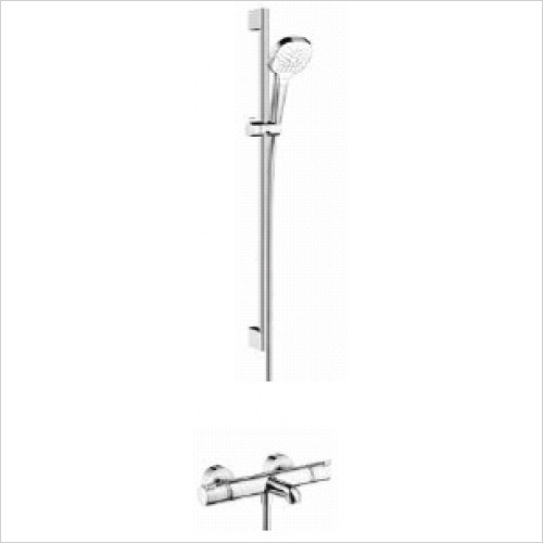 Hansgrohe Brassware - Soft Cube Croma Select Rail Kit With Bath/Shower Valve
