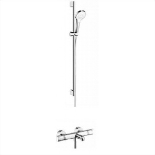 Hansgrohe Brassware - Round Croma Select Rail Kit With Bath/Shower Valve