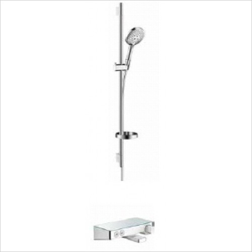 Hansgrohe Brassware - Round Raindance Select Rail Kit W/Select Bath/Shower Valve