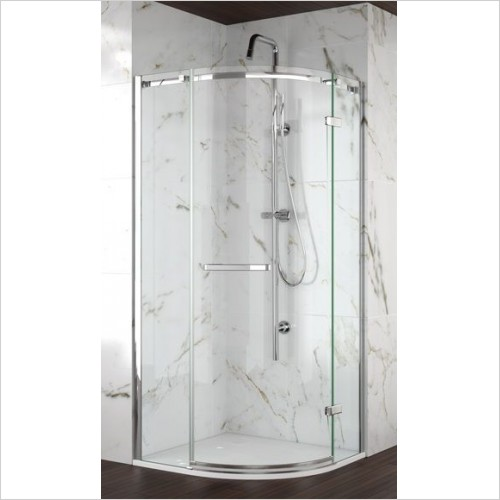 Merlyn Shower enclosures - 8 Series Frameless 1 Door Quadrant 800mm Incl MStone Tray