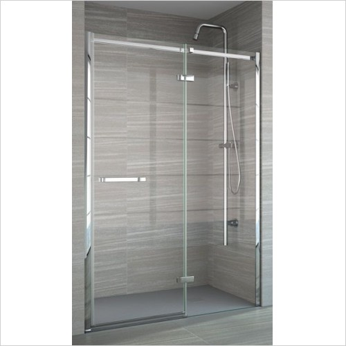 Merlyn Shower enclosures - 8 Series Frameless Hinge & Inline 1400mm