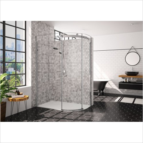 Merlyn Shower enclosures - 10 Series 1 Door Offset Quad 1200 x 900mm LH