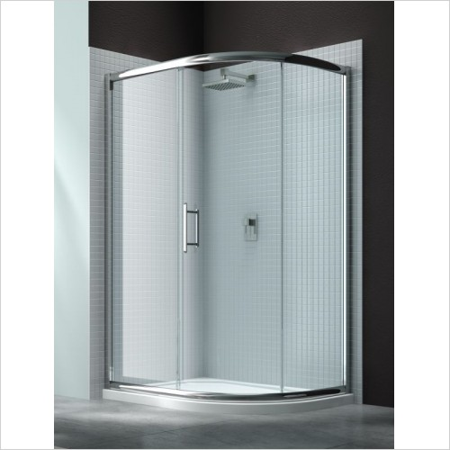 Merlyn Shower enclosures - 6 Series 1 Door Offset Quad 900 x 760mm