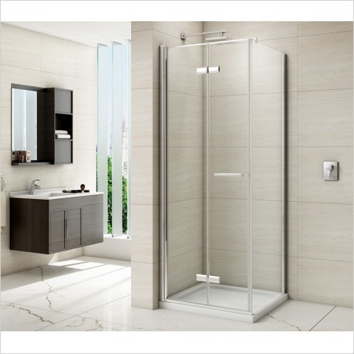 Merlyn Shower enclosures - 8 Series Frameless Bifold Side Panel 760mm