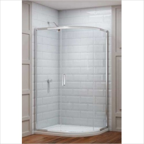 Merlyn Shower enclosures - 8 Series 1 Door Offset Quad 1200 x 800mm