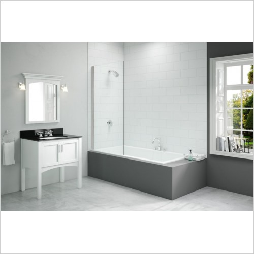 Merlyn Bathscreen - Vivid Fixed Square Bathscreen 800 x 1500mm