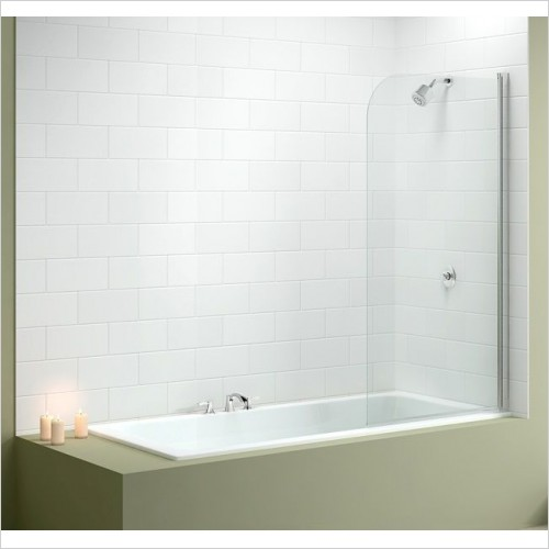 Merlyn Bathscreen - Vivid Bath Screen 800 x 1500mm Curved